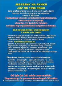 TRANSLATOR Biuro Usług i Tłumaczeń - Biuro Tłumaczeń Ropczyce