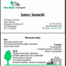 Dom Ogród i Transport Janusz Janowski - Odśnieżanie Kobylnica