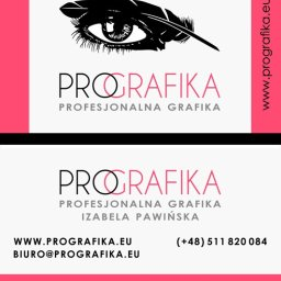 logotyp i wizytówka dwustronna ProGrafika profesjonalna grafika Izabela Pawińska