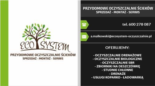 ECOSYSTEM Przydomowe oczyszczalnie ścieków - Instalacje Wod-kan Zambrów