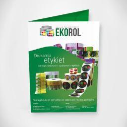 Teczka ofertowa drukowana dla firmy EKOROL