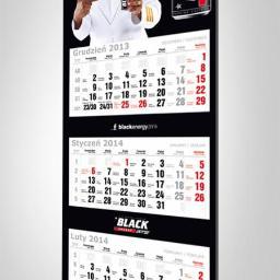 Projekt kalendarza trójdzielnego na zlecenie marki BLACK