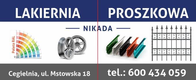 Lakiernia Proszkowa NIKADA Piotr Błachowicz - Piaskowanie Cegielnia