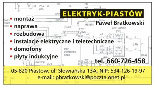 ELEKTRYK - PIASTÓW Paweł Bratkowski - Oświetlenie Łazienki Piastów