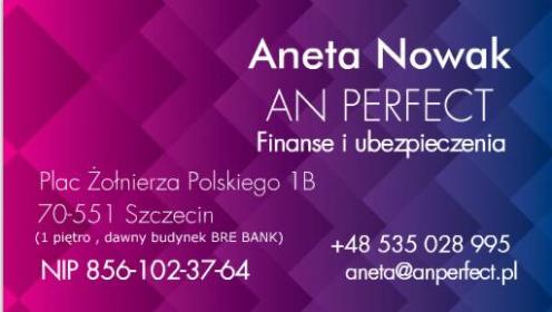 AN PERFECT Finanse i Ubezpieczenia - Ubezpieczenie firmy Szczecin