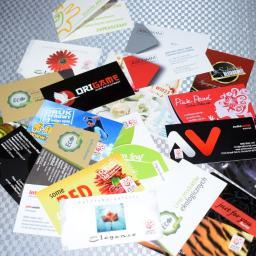Materiały drukowane: wizytówki, karty biznesowe