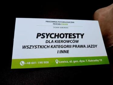 PRACOWNIA PSYCHOLOGICZNA PSYCHO - DRIVER - Psycholog Łowicz