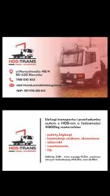 Hds-trans - Transport ciężarowy krajowy Wrocław