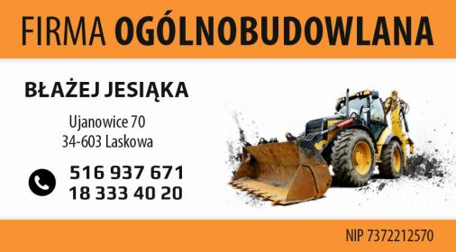 Firma Ogólnobudowlana Błażej Jesiąka - Prace działkowe Ujanowice