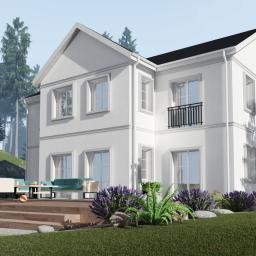 Projekt wykonany dla inwestora ze Szwecji. Budynek rezydencjonalny.