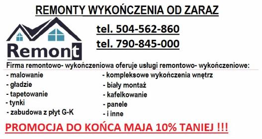 REMONTY - Płyta karton gips Chorzów