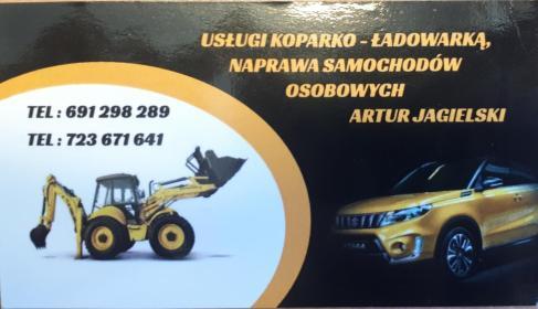 Usługi koparko-ładowarką, naprawa samochodów osobowych - Fundamenty Brojce