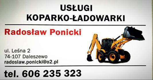 Usługi Koparko - Ładowarką Ponicki Radosław - Wyburzenia Daleszewo