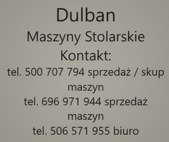 Tomasz Dulban Maszyny Stolarskie - Dla przemysłu drzewnego Kalwaria Zebrzydowska