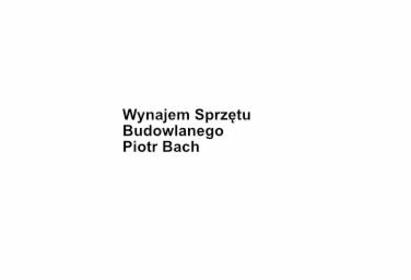 Wynajem Sprzętu Budowlanego Piotr Bach - Wypożyczalnia sprzętu budowlanego Wałdyki