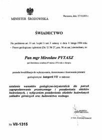 Geovia Sp. z o.o. - Przekroje Geologiczne Dąbrowa Górnicza