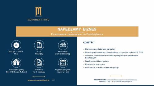 Monument Fund - Pożyczki Pozabankowe Kraków