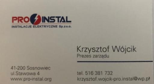 Pro-Instal Instalacje Elektryczne Sp. zo.o. - Elektryk Sosnowiec