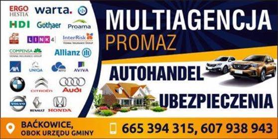 Ubezpieczenia Autohandel - Ubezpieczenie samochodu Baćkowice