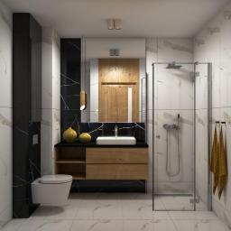 Łazienka w marmurowych płytkach
