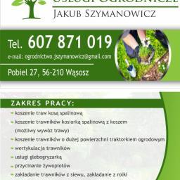 Usługi Ogrodnicze Jakub Szymanowicz - Pielęgnacja Trawników Wąsosz