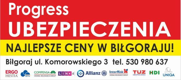 Progress Ubezpieczenia w Biłgoraju - Ubezpieczenia OC Biłgoraj