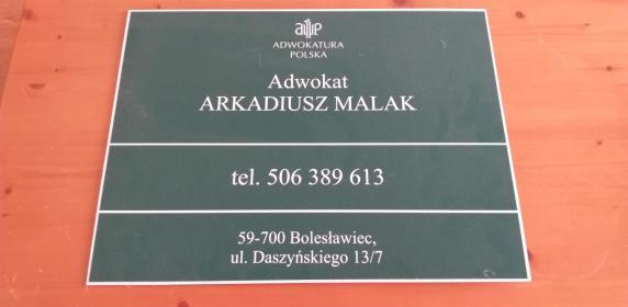 Kancelaria Adwokacka Adwokat Arkadiusz Malak - Adwokat Bolesławiec