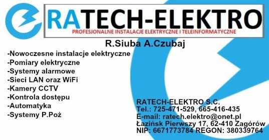 RATECH-ELEKTRO S.C. - Projektant instalacji elektrycznych Łazińsk pierwszy
