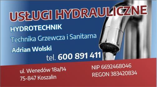 Hydrotechnik Technika Grzewcza i Sanitarna Wolski Adrian - Hydraulik Koszalin