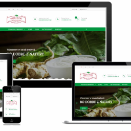 Strona internetowa + sklep - producent przetworów
