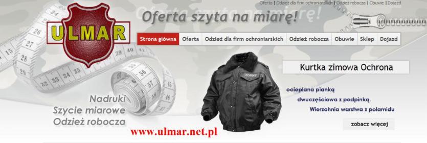 """P.P.H.U """"Ulmar"""" Marek Kalkowski - Dostawcy i producenci Płock"""