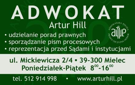 Kancelaria Adwokacka Adwokat ARTUR HILL - Porady Prawne Mielec