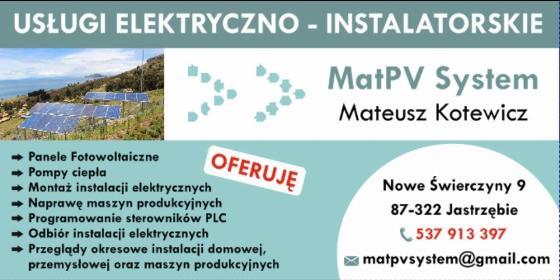 MatPV System Mateusz Kotewicz - Fotowoltaika Nowe świerczyny