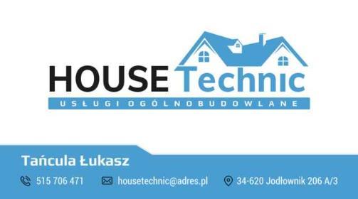 HOUSE-Technic Usługi Ogólnobudowlane - Firmy budowlane Jodłownik