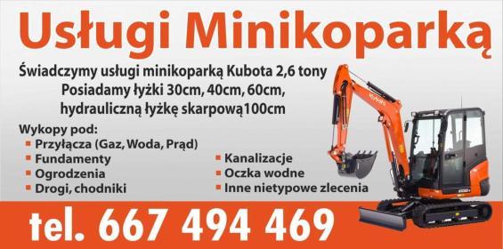 Minikoparka Czemierniki - Prace działkowe Czemierniki