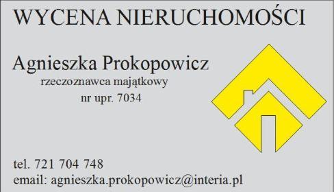 Wycena nieruchomości Agnieszka Prokopowicz - Agencja nieruchomości Trzebnica