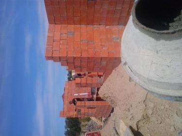 Darek poleski - Murowanie ścian Sławno