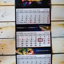 kalendarze trójdzielne od 1 sztuki