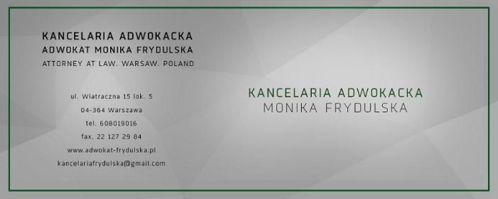 Kancelaria Adwokacka Adwokat Monika Frydulska - Obsługa prawna firm Warszawa