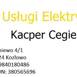 Usługi Elektryczne Kacper Cegielski - Instalatorstwo Elektryczne Kozłowo