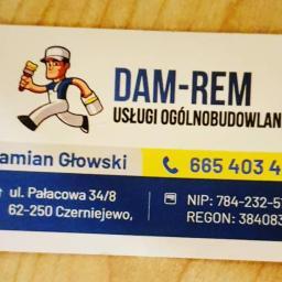 Usługi Ogólnobudowlane Damian Głowski DAM-REM - Ramonty Łazienek Czerniejewo