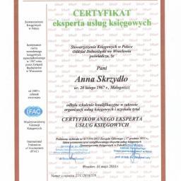 Certyfikowany Ekspert usług Ksiegowych czyli Anna Skrzydło