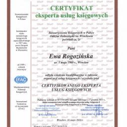 Certyfikowany Ekspert Usług Księgowych czyli Ewa Rogozińska