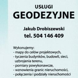 USŁUGI GEODEZYJNE JAKUB DROBISZEWSKI - Ekipa budowlana Morąg