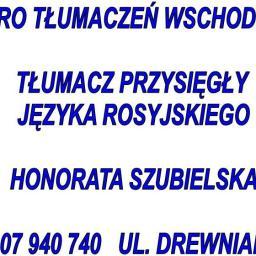 Tłumacz przysięgły języka rosyjskiego Honorata Szubielska - Tłumacze Słupsk