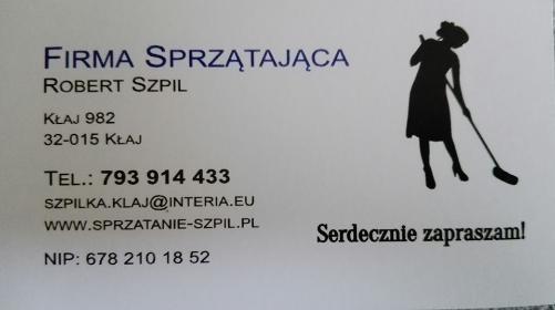 Firma sprzatająca Robert Szpil - Sprzątanie Biur Kłaj