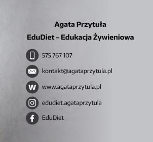 EDUKACJA ŻYWIENIOWA EduDiet - AGATA PRZYTUŁA - Dietetyk Lublin