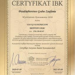 W dniu 09,07,2020 roku zostaliśmy wyróżnieni Certyfikatem IBK jako Przedsiębiorstwo Godne Zaufania Wyróżnienie Konsumenta 2020.  Dziękujemy za zaufanie!!!