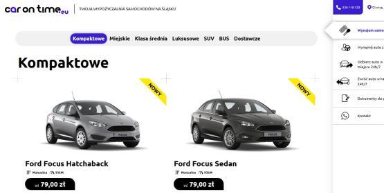 Wypożyczalnia samochodów Car On Time - Wypożyczalnia samochodów Gliwice