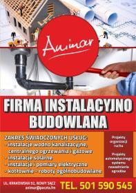 ANIMAR Firma Instalacyjno Budowlana Anita Marszał-Koczenasz - Instalacje gazowe Nowy Sącz